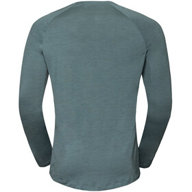 Odlo BL Concord T-shirt manches longues à col ras-du-cou Homme, arctic-great outdoors print ss19